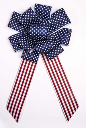 25 inch Giant Patriotic Bow