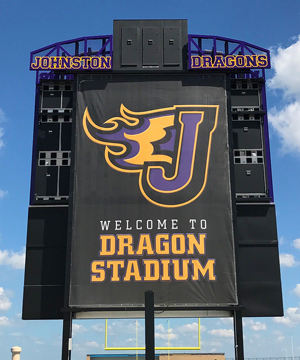 Scoreboard and Stadium Mesh Banners