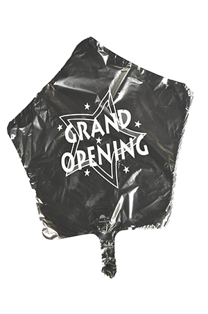 Bargain Silver Star Mylar Grand Opening Balloon