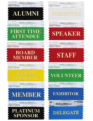 Stock Name Tag Ribbons Golden Openings