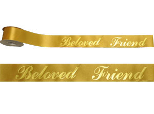 custom printed ribbon golden openings
