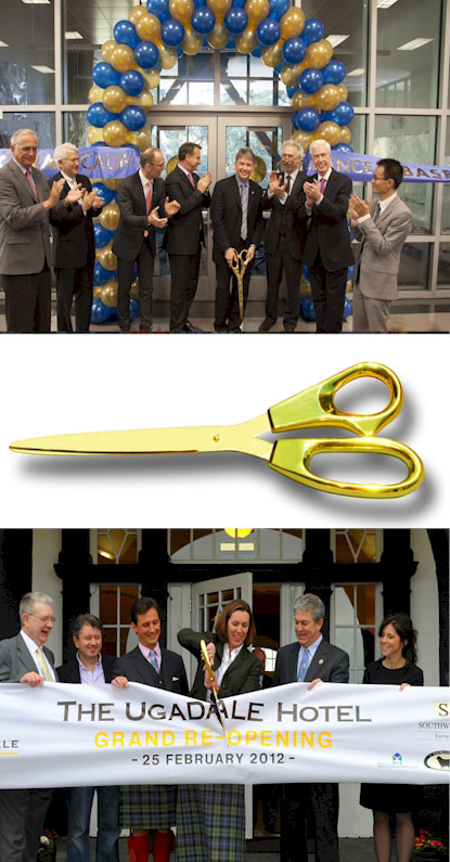 Giant 25 Inch GOLD Plated Scissors with GOLD Blades