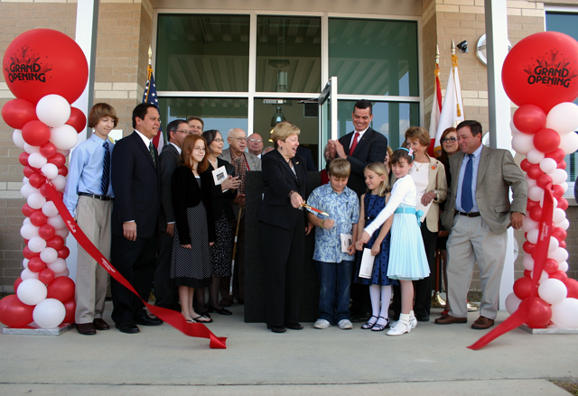 Red and White Ribbon Cutting Ceremony