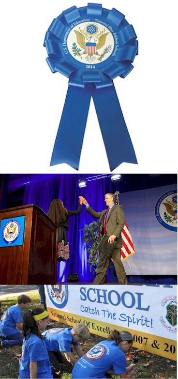 National Blue Ribbon Presidential Rosette Ribbon Bow