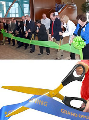 Giant 25 inch Ceremonial Scissors GOLD Blades/ANY Color Handles