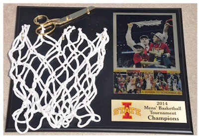 Cutting Down The Net Basketball Tournament Winner Keepsake Plaque