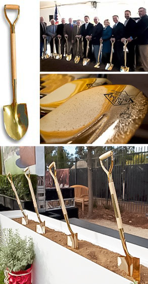 Show Stopping Gold Plated Ceremonial Shovel