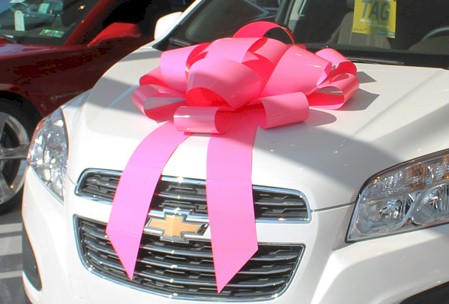 30 Inch Magnetic Car Or Building Pink Breast Cancer Bow