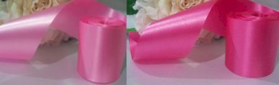 4 inch Pink Satin Ribbon