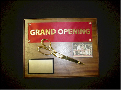 Ribbon/Scissors Commemorative Plaque