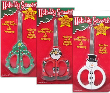 Christmas Tree, Santa or Snowman Scissors