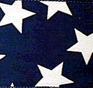 2.5 inch Navy Star Ribbon