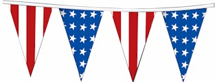American Stars/Stripes Alternate Jumbo Pennant- 30ft section