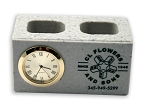Cinder Block Groundbreaking Clock