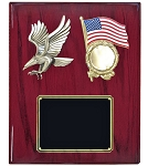 American Flag and Eagle Cherry Piano Wood Plaque