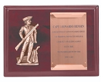 Minuteman and Scroll Cherry Piano Plaque