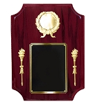 Rosewood Piano Torches and Military Medallion Plaque