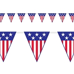 Patriotic Stars and Stripes Pennants