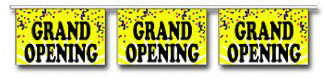Yellow Confetti Grand Opening Pennant - 60ft Section