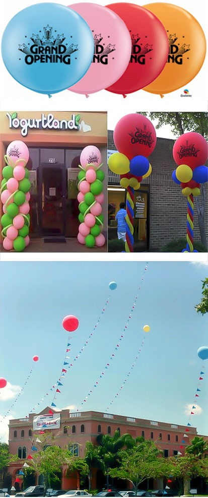 Grand Opening 3 foot (36 inch) Latex Balloons