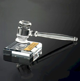 Acrylic Gavel with Sound Block Set