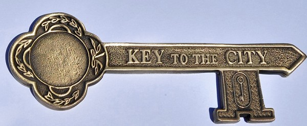 Antique Gold Key To The City