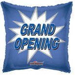 Grand Opening Mylar Balloon Blue Square