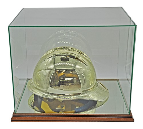 Glass Hard Hat Display Case