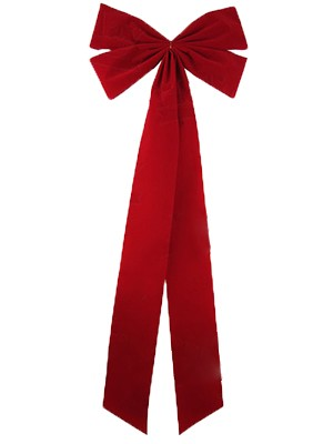 15 inch Wide Handy Holiday Velvet Weatherpoof Bow