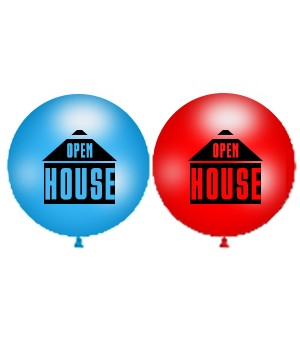 36 inch 3 foot Open House Latex Balloons