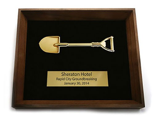 Gold Shovel Shadow Box