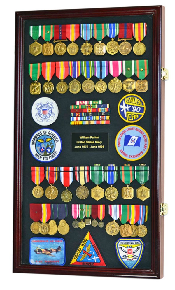 Large Military Service Display Case