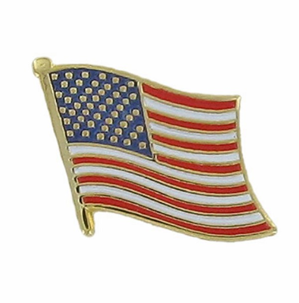 Patriotic American Flag Lapel Pin