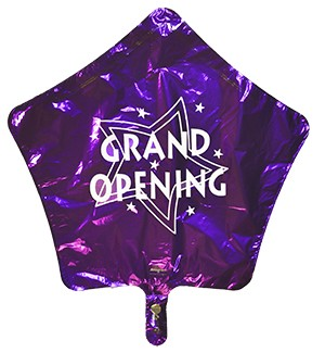 Bargain Purple Star Mylar Grand Opening Balloon