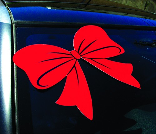 Holiday Car Bow Decal