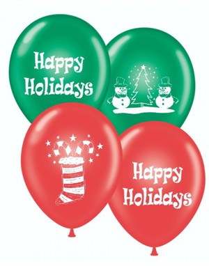 Merry Christmas/Happy Holidays Balloons