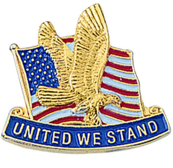 United We Stand American Lapel Pin