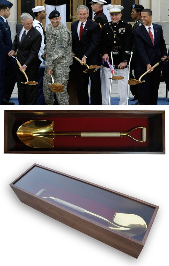 Groundbreaking Shovel Display Case Golden Openings
