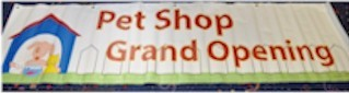 Pet Shop Banner 2 ft by 8 ft