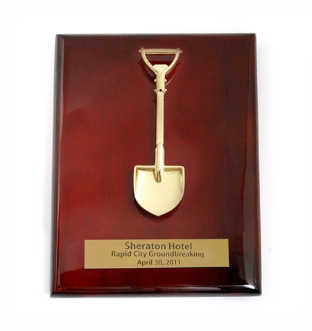 10 Inch Piano Wood Plaque with Shovel