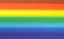 Rainbow Blended Multi-Stripe Wide Ribbon