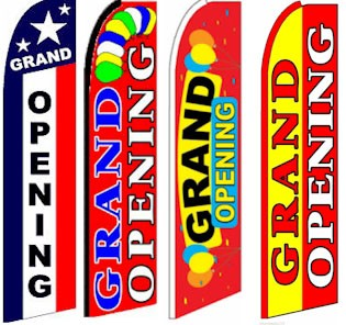 Bargain 15 foot Grand Opening Flag Kits