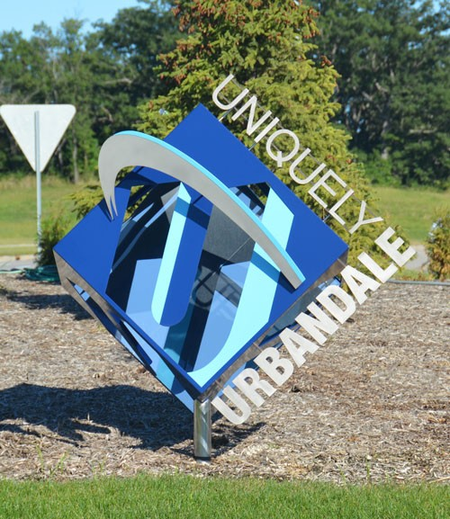 City and Campus Art 3-D Cube Sculpture
