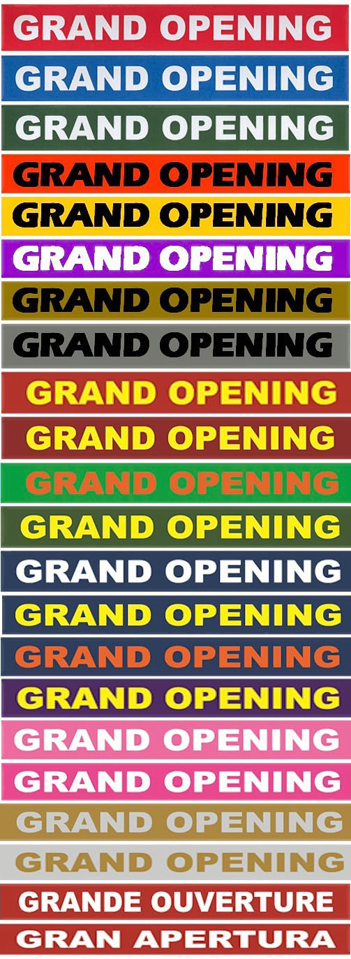 6 Inch Wide GRAND OPENING Ribbon