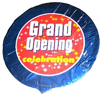 Grand Opening Mylar Balloon - Celebration