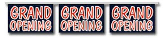 Red and Blue Grand Opening Pennant - 60ft Section
