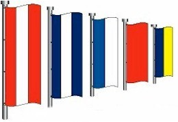"36"" x 8' Nylon Flag Kit"