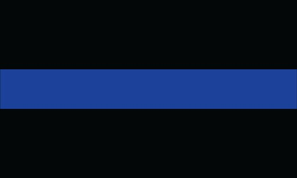 Nylon Thin Blue Line Police Officer Flag