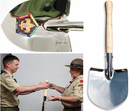 Mini Chrome Ceremonial Shovel